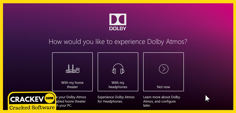Dolby Access Crack windows 10,8,7 download [32,64]Bit | CrackEv