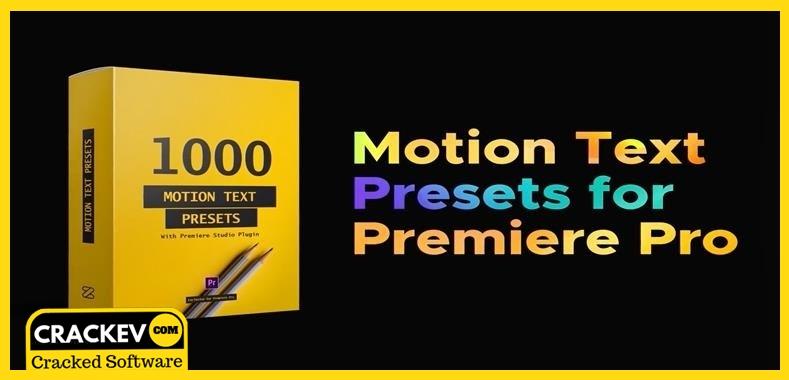 VideoHive Text Presets – Premiere Studio Plugin Crack
