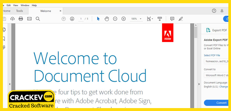 Adobe Reader Crack 2019 for Windows/PC + Offline Installer | CrackEv