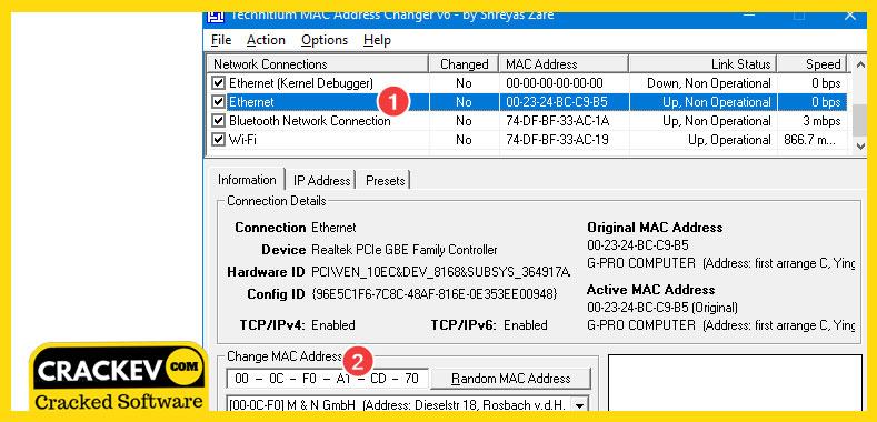 Change Mac Address Windows 10/8 1/7 [2019] - Latest Version | CrackEv