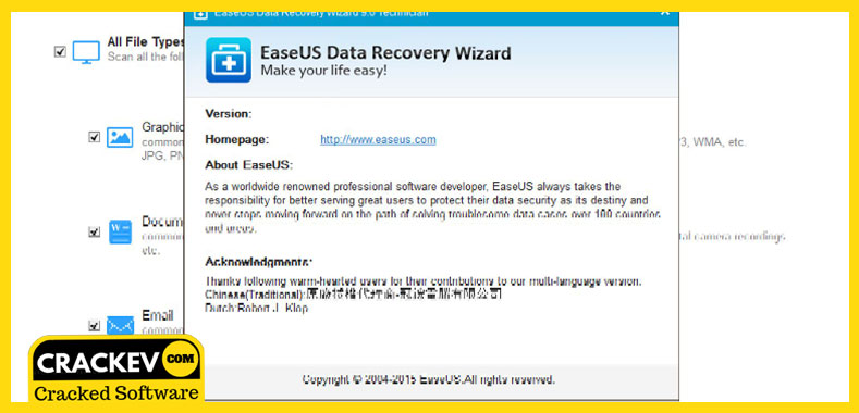 easeus data recovery wizard latest version crack